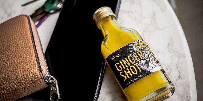 Prírodný český nápoj Ginger Shot na imunitu či trávenie