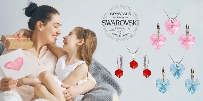 Darčekové sety šperkov Swarowski v tvare srdca či kocky
