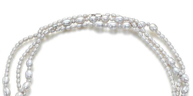 06ad5b5ce Strieborný perlový náhrdelník Orchira   Zlavomat.sk