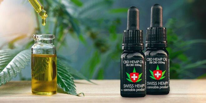 Liečivá sila konopy siatej: 5-30% CBD oleje Swiss Hempy
