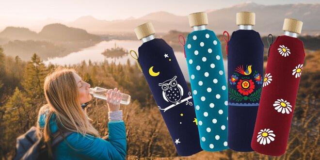 Sklenená fľaša v neoprénovom obale (2 veľkosti)