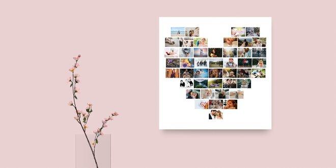 Jedinečný obraz vyskladaný z fotografií do tvaru srdca