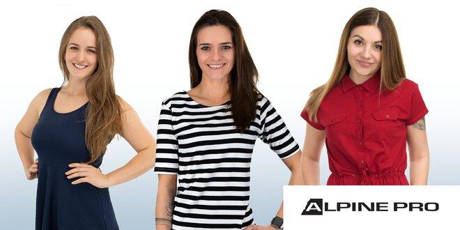 Štýlové dámske šaty Alpine Pro do mesta aj prírody