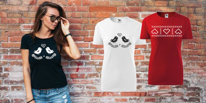 Dámske i pánske tričká s ľudovými motívmi
