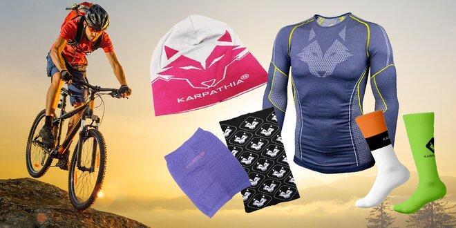 Cyklistické ponožky, nákrčníky, čiapky a tričká Karpathia