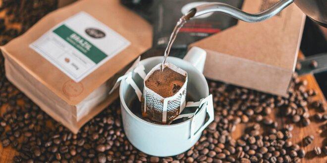 Kávy Drip it v špeciálnych filtroch: 4 druhy aj mix