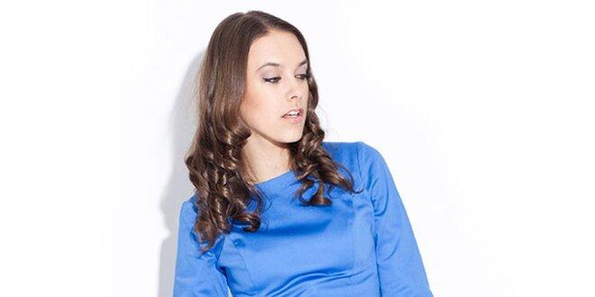 d9ee7833be Dámske lesklé modré šaty Katrus