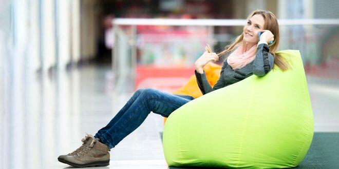 Pohodlné sedacie vaky – rôzne farby, tvary i veľkosti