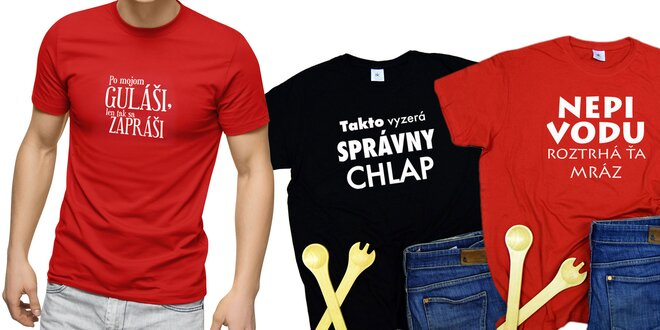 Pánske tričká s veselou potlačou v darčekovom balení