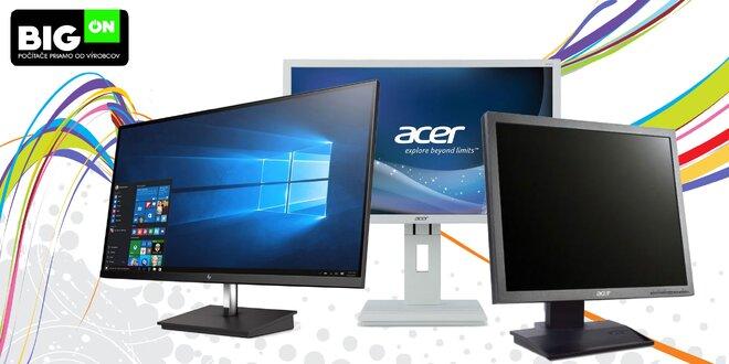 Kvalitné značkové monitory pre prácu i zábavu