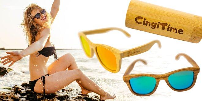 Slnečné okuliare z bukového dreva – rôzne farby skiel