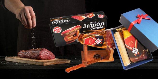 Darčekovo balená španielska šunka so stojanom i nožom