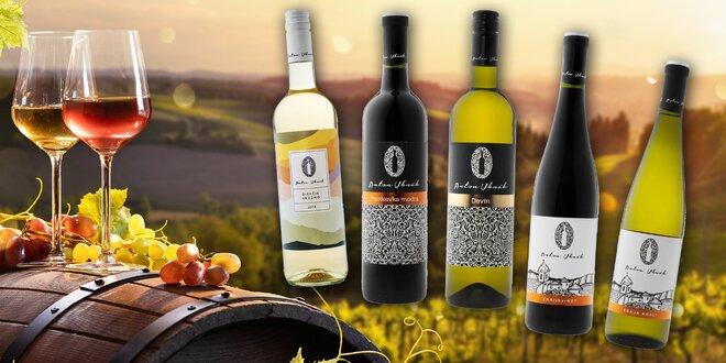 Sety vybraných vín z rodinného vinárstva Anton Uhnák