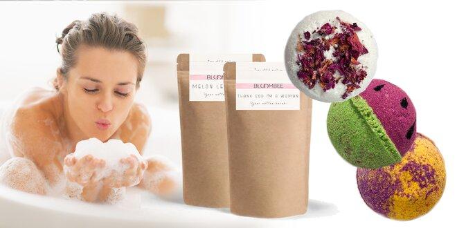 Kozmetické balíčky- šumivé bomby, peelingy, pleťové masky