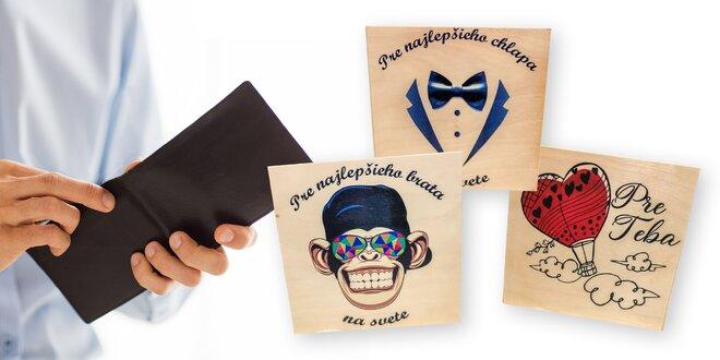 Pánske peňaženky z pravej kože v darčekových boxoch