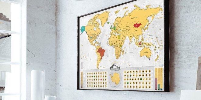 Stieracie mapy sveta, Európy alebo Slovenska Deluxe XL