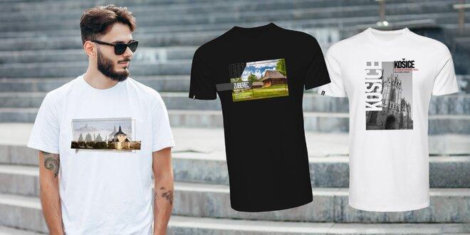 Pánske bavlnené tričká s potlačou slovenských miest