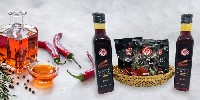 Sladká i štipľavá mletá paprika alebo oleje zo semien