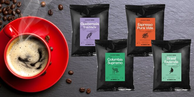 Kávové balíčky z Južnej Ameriky aj z celého sveta