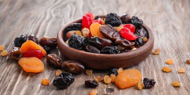 Sušené exotické ovocie, ibiškový kvet i kokos