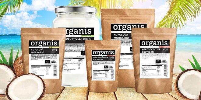 Bio kokosový panenský olej, kokosová múka aj cukor