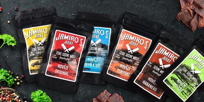 Balíčky kvalitného sušeného Jamiro's Jerky bez éčok