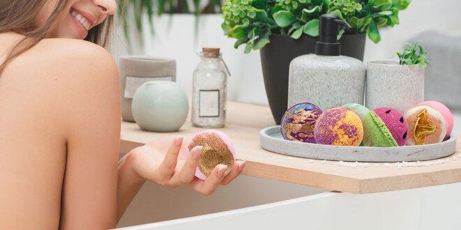 Šumivé guľôčky do kúpeľa s rôznymi vôňami