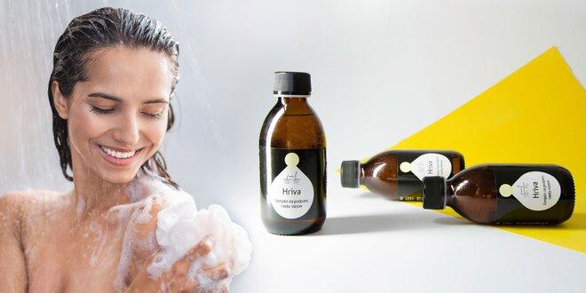 Prírodné šampóny s argánovým olejom a bylinkami
