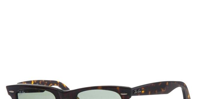 9e21f2e26 Tmavo hnedé žíhané slnečné okuliare Ray-Ban Wayfarer | Zlavomat.sk