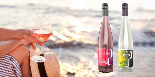 2-dielne sety perlivých vín Pútec – biele i ružové