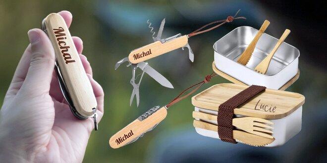 Vreckový nožík alebo obedový box s vlastným menom