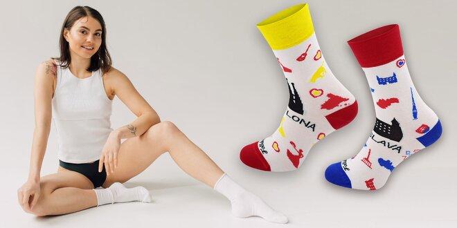 Ponožky Folkies s motívmi miest