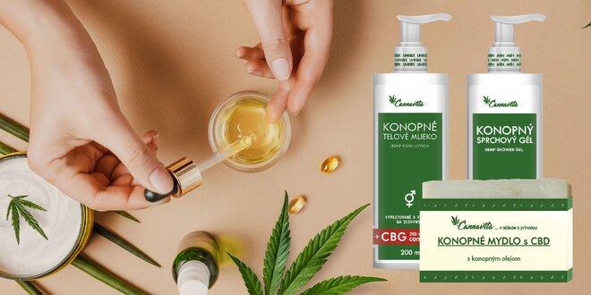 Prírodná konopná kozmetika s CBD, CBG alebo CBN