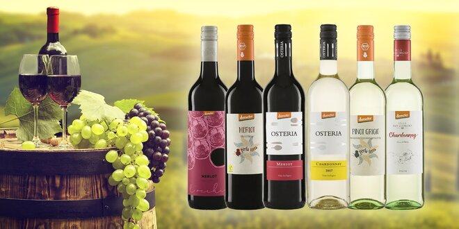 Kartóny kvalitných BIO vín – alkoholické i nealkoholické
