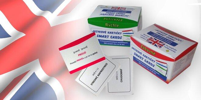 Netradičné jazykové kartičky na učenie sa angličtiny