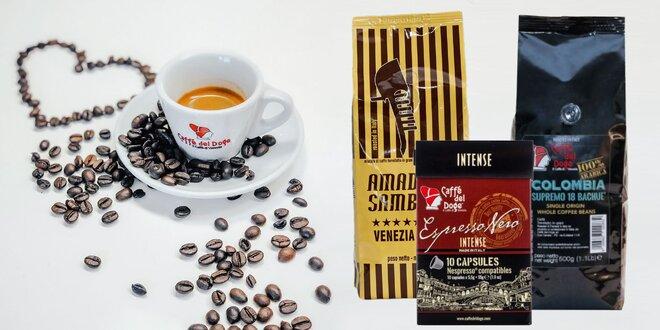 Kvalitné benátske kávy, kapsule i bezkofeínová zmes