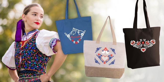 Krásne vyšívané tašky z kvalitnej organickej bavlny