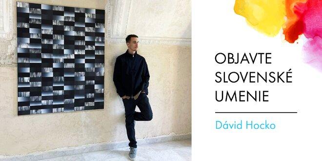 Abstraktné maľby slovenského umelca Dávida Hocka