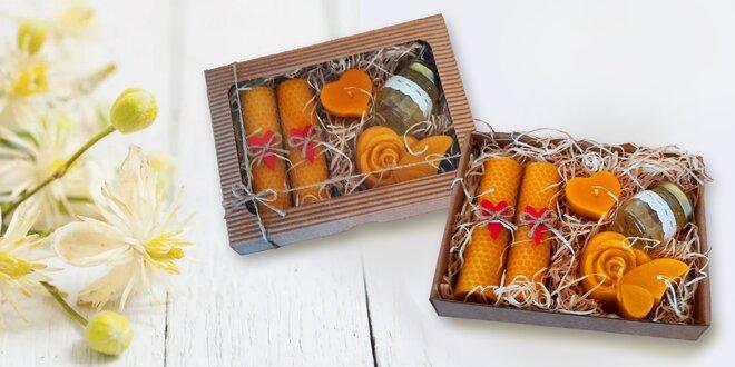 Darčekové sviečky z včelieho vosku