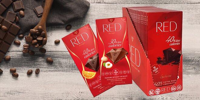Veľké balenia nízkokalorickej čokolády