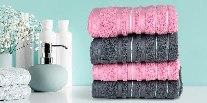 Elegantné uteráky a osušky zo 100% bavlny