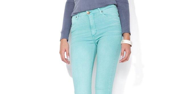 Dámske mätovo zelené skinny džínsy Blue Roses