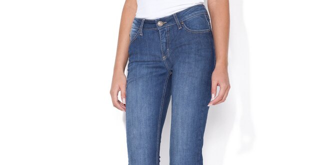 """Dámske modré """"curve"""" jeans Blue Roses"""