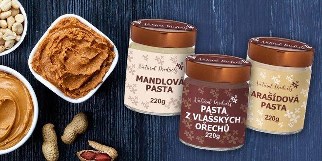 Pasty z arašidov, sezamu či orechov i mandlí