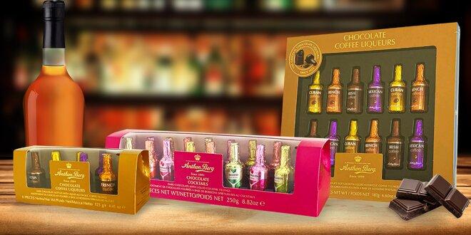 Čokoládové fľaštičky s alkoholom: likér, cognac i whisky