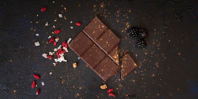 2 alebo 5-kusové balenia fair trade BIO čokolády