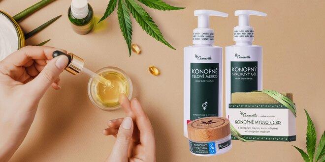 Sady prírodnej konopnej kozmetiky s CBD, CBG a CBN