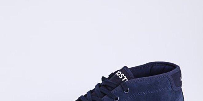 Pánske tmavo modré tenisky Lacoste so semišom  2099ac30e92
