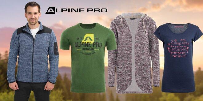 Športové tričká, mikiny aj nohavice Alpine Pro