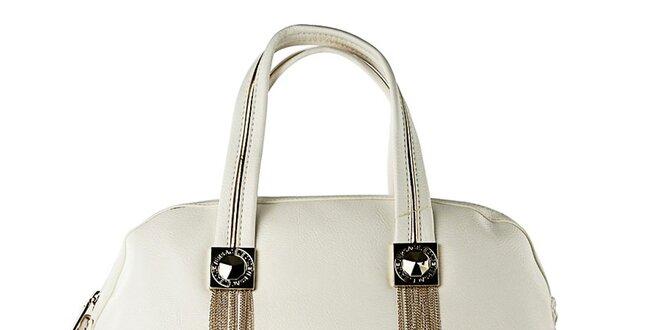 Dámska biela kabelka so strapcami Versace Jeans  d1d91f5007c